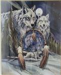 View details for this Wolf Dreamcatcher Poster Print