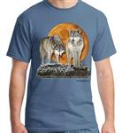 View details for this Hunter's Moon Wolf T Shirt - S
