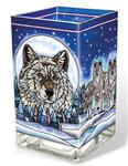 Wolf Pack Large Candleholder