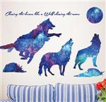 View details for this Wolf Wall Decal Mural